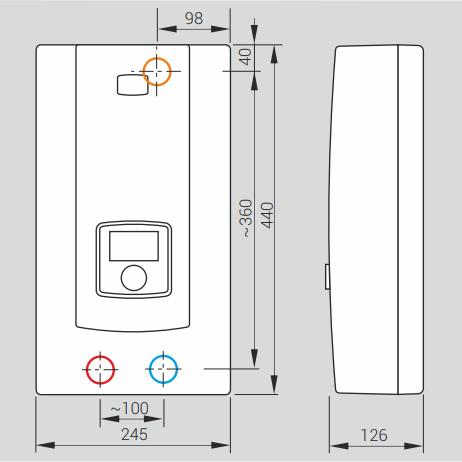 Размеры водонагревателя Kospel PPE2